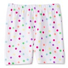 Toddler Girls' Polka Dot Bike Short - White
