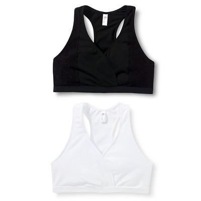 Women's Nursing Sleep Bra 2-Pack True White/Black - Gilligan & O'Malley™