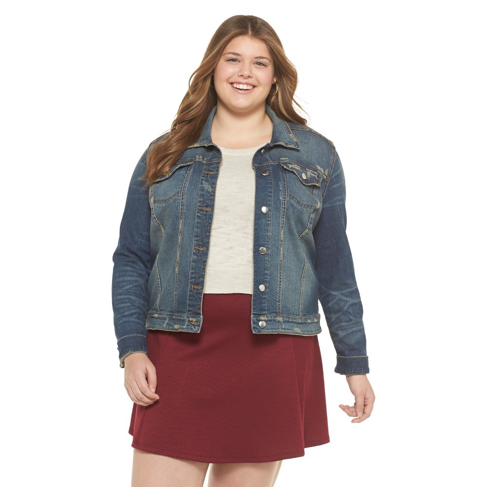 Mossimo Supply Co. Plus Size Denim Jacket Riot Blue Wash-Mossimo Supply Co.