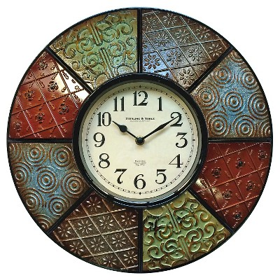 Sterling & Noble Color Pattern Wall Clock 16""