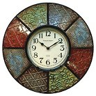 """Sterling & Noble Color Pattern Wall Clock 16"""""""