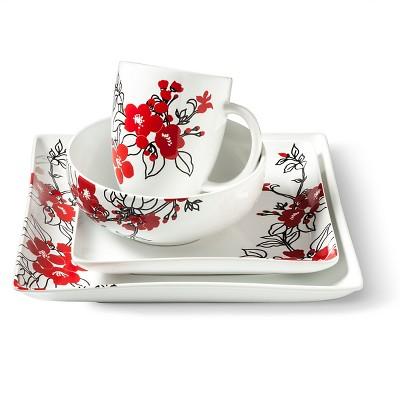 Coventry Bloomaline Red Dinnerware Set
