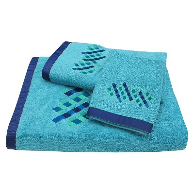 Relativity 3 Piece Towel Set - Blue