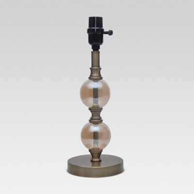 Threshold™ Stacked Ball Base Small - Champagne Lustre Glass