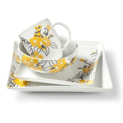 Coventry Bloomaline Yellow Dinnerware Set