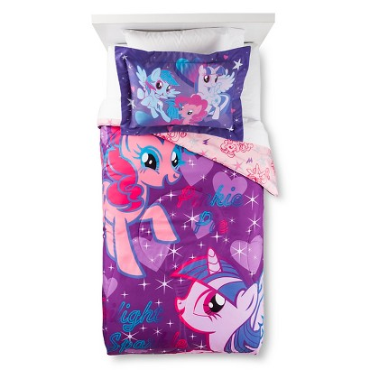 My Little Pony Comforter with Bonus Pillow Sham - Multicolor (Twin)