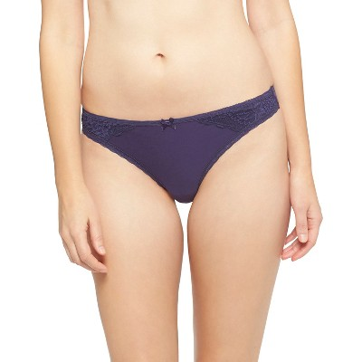 Women's Brushed Micro Thong Nighttime Blue S - Gilligan & O'Malley™