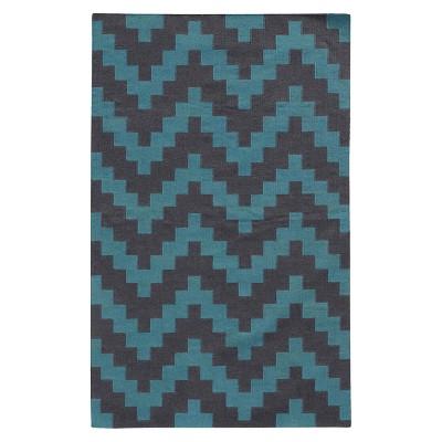 "Pantone Matrix 4714D 100% Wool Flatweave Accent Rug - Blue/Gray (3'6""x5'6"")"