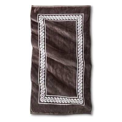 Morocco Rope Sheared Beach Towel - Molten Lead - Fieldcrest™