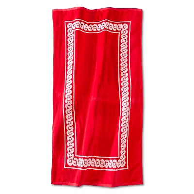 Morocco Rope Sheared Beach Towel - Coral - Fieldcrest™