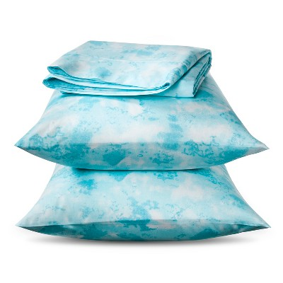 Ecom  Horizons 300tc Cotton Sheet Set Ocean Twin