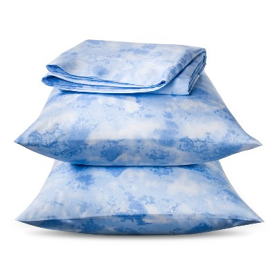 Ecom  Horizons 300tc Cotton Sheet Set Blue Queen