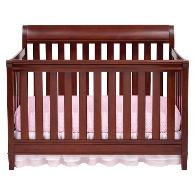 Delta Children Haven 4-in-1 Convertible Crib - Black Cherry Espresso