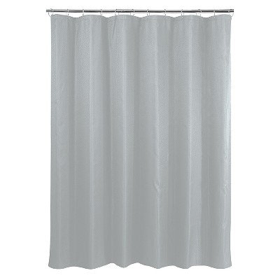 Basket Weave Shower Curtain - Gray