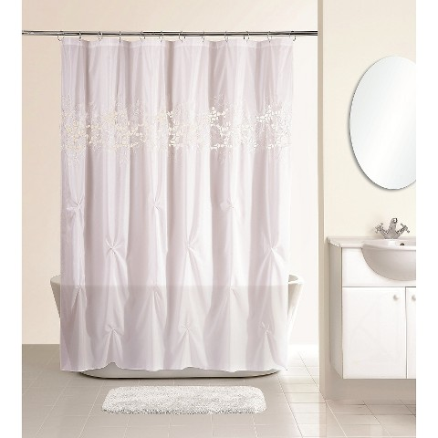 lace shower curtain white target
