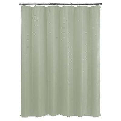 Basket Weave Shower Curtain - Green