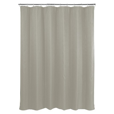 Basket Weave Shower Curtain - Dark Taupe