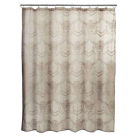 lace shower curtain cappuccino product details page