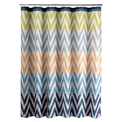 Ikat Shower Curtain - Multi-Color