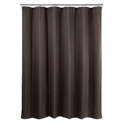 Basket Weave Shower Curtain - Warm Chocolate