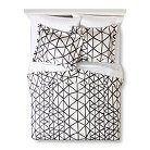 Handrawn Geo Duvet Cover Set White/Navy (Full/Queen) - Nate Berkus™