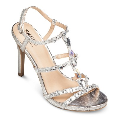 Women's Stacey Heeled Sandals - Silver 7.5