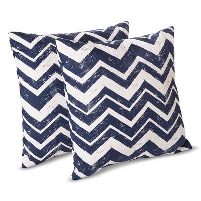 Room Essentials™ 2 Pk Chevron Toss Pillows - Blue
