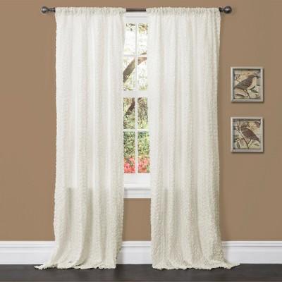 """Lush Decor© Rosina Curtain Panel - Ivory (84"""" x 52"""")"""