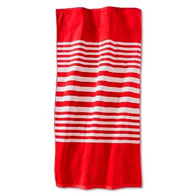 Brighton Sheared Beach Towel - Coral - Fieldcrest™