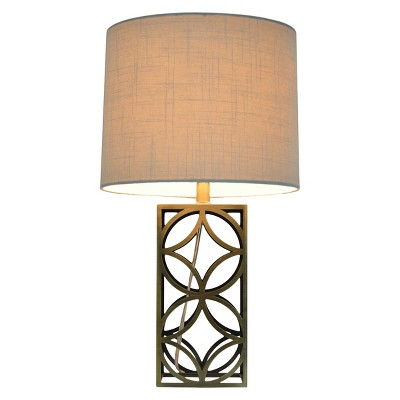 Threshold™ Harper Table Lamp Medium - Plated Antique Brass (Includes CFL Bulb)