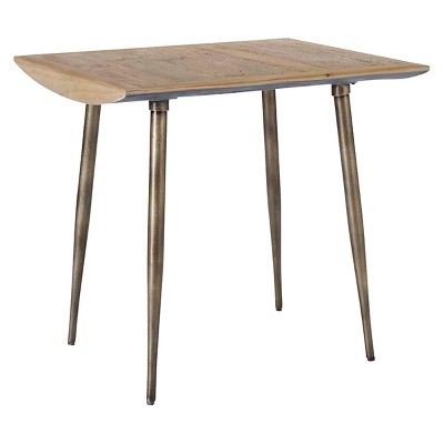 Cassidy Wormy Pine Accent Table Silver/Wood - Homeware