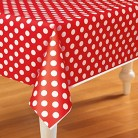Plastic Rectangle Tablecover with Dots