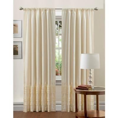 "Lush Decor© Paloma Curtain Panel - Ivory (84"" x 54"")"