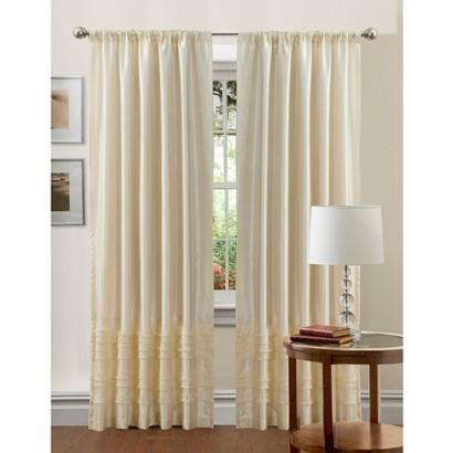 Lush Decor Paloma Curtain Panel Ivory 84 X Target