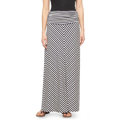 s striped convertible maxi skirt merona target