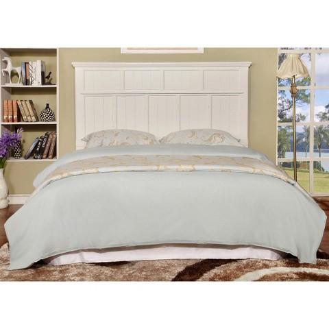 Full Wood Headboard : Dakota Adjustable Wood Headboard White Full/Queen - Furniture of ...