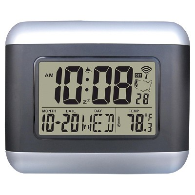 Atomic Radio Control LCD Wall Clock