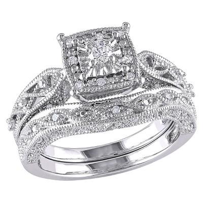 Allura  1/5  CT. T.W. Diamond Bridal Ring Set in Sterling Silver (GH I2-I3) (9)