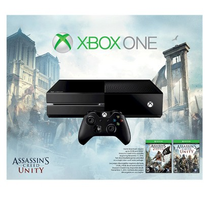 Xbox One 500GB Console Bundle with Assassin's Creed Unity and Black Flag
