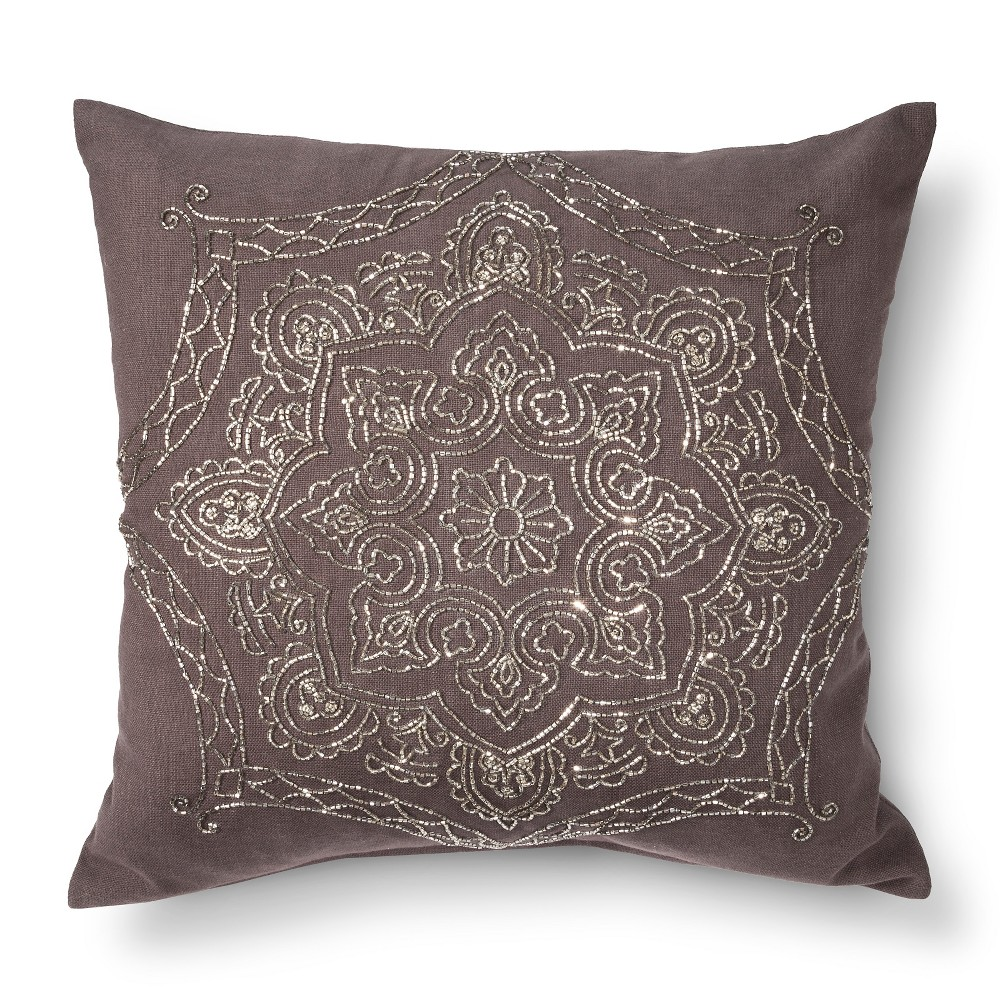 Envogue Decorative Pillows : LUNA BEADED TOSS PILLOW