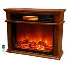 "LifeSmart Lifepro series Portable Infrared Heater Fireplace 25.5"" Tall with Remote"
