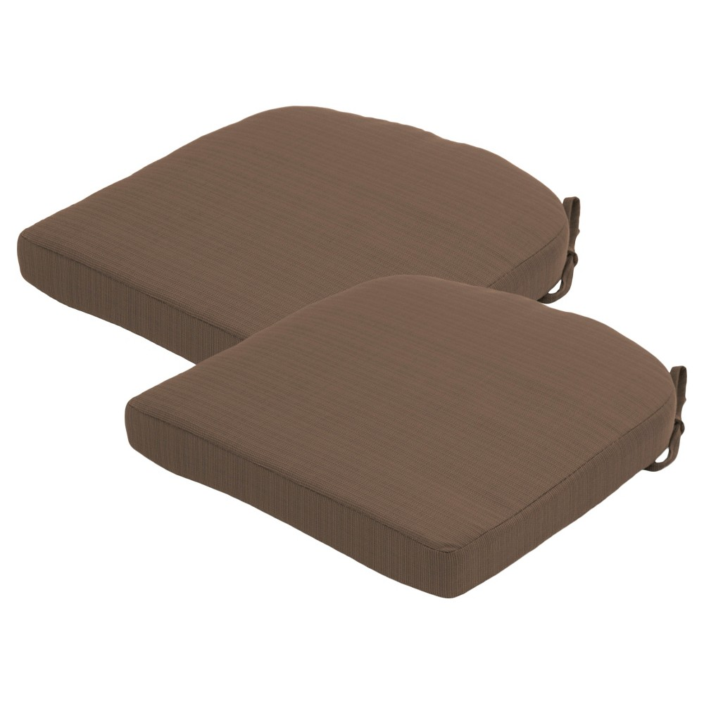 Outdoor Seat Cushion Threshold 2piece Outdoor Round Back Seat Cushion ...