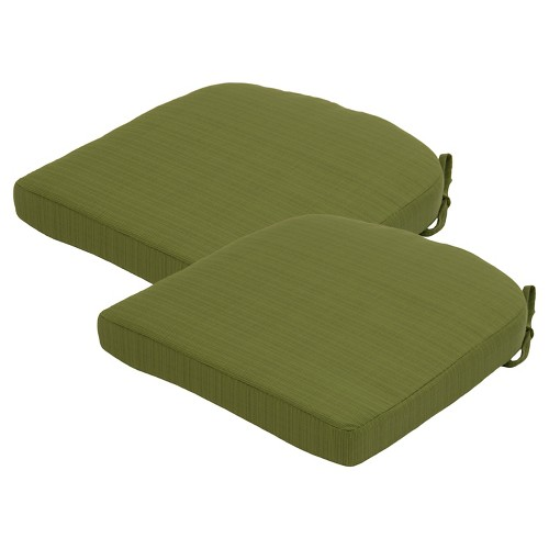 threshold 2 piece outdoor round back seat cushion set ebay