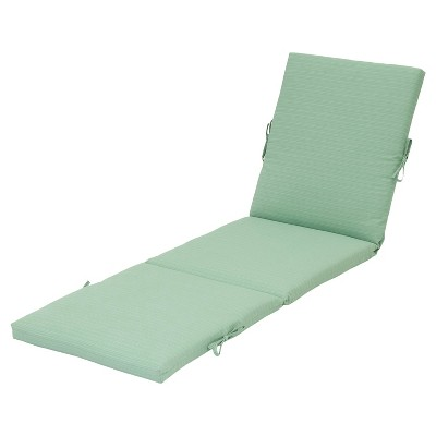 Outdoor Chaise Lounge Cushion - Seafoam - Threshold™