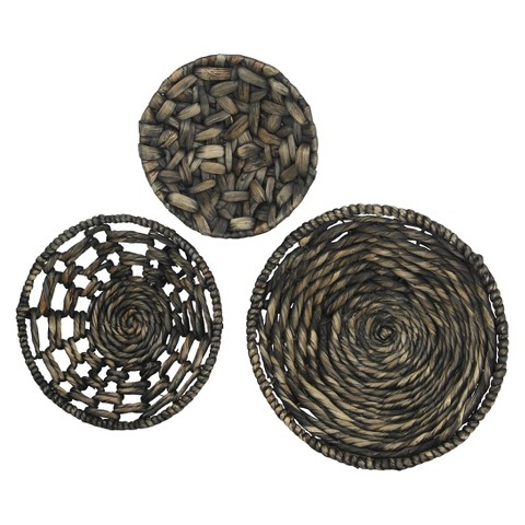Woven hanging wall d cor target - Decorative basket wall art ...