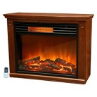 "LifeSmart Lifepro series Portable Infrared Heater Fireplace 22"" Tall with Remote"