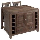 Barnside Kitchen Island with Stools - Wood