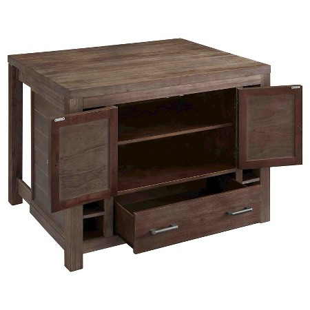 Barnside kitchen island with stools wood brown home styles target - Kitchen island target ...