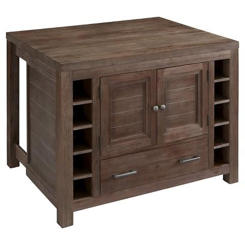 Barnside kitchen island wood brown home styles target - Kitchen island target ...