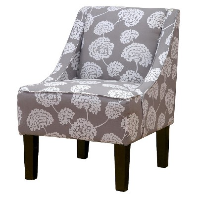 Hudson Swoop Chair - Gray Floral